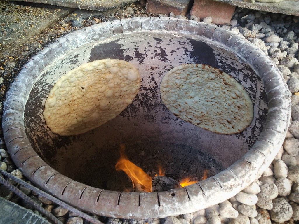 Tandoor Clay Oven with Kebabs